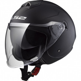 LS2 casco moto jet OF573 Twister II negro mate