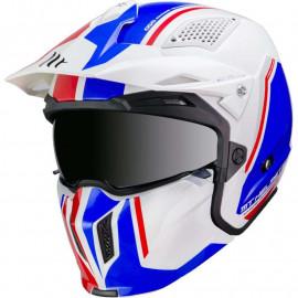 MT casco moto jet Street Fighter B7 Azul
