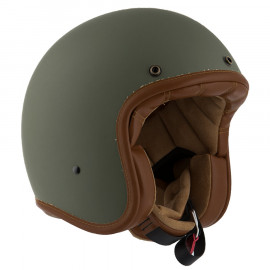 By City casco moto jet Two Strokes verde mate